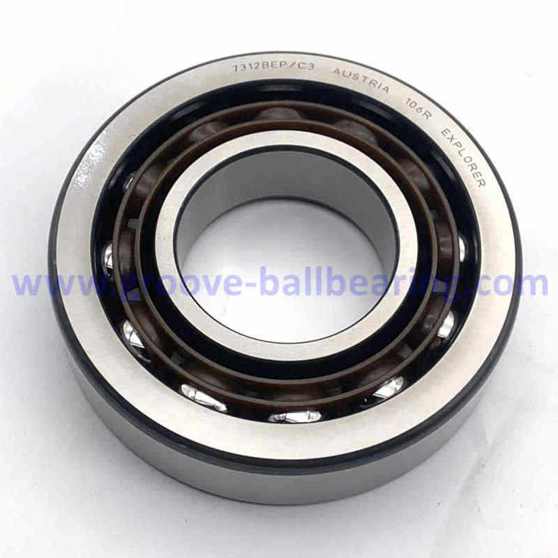 7312BEP Lathe Spindle Bearings 7312BEP/C3 Angular Contact Bearing