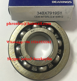 34BX791951 Deep Groove Ball Bearing 34x79x19/22mm