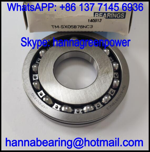 TM-SX05B76NC3 Automobile Bearing / Deep Groove Ball Bearing 26x62x11mm