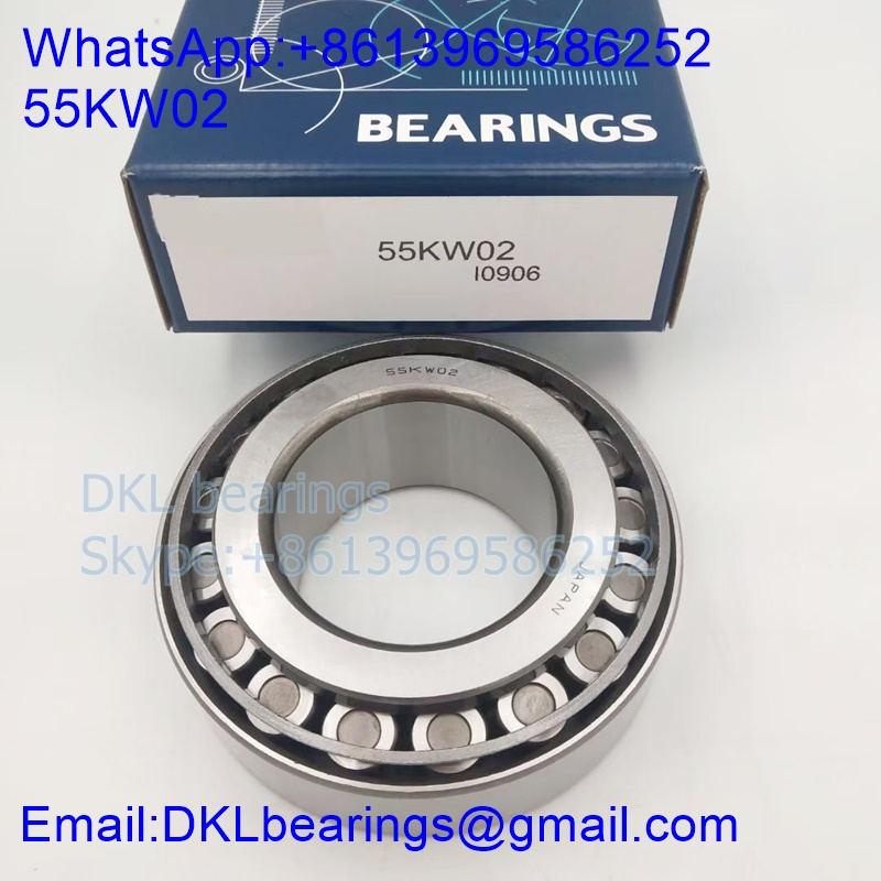 55KW02 bearing size 55x105x36 mm