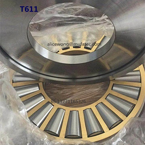 T611 Brass Cage Thrust Tapered Roller Bearings 152.4x317.5x69.850mm