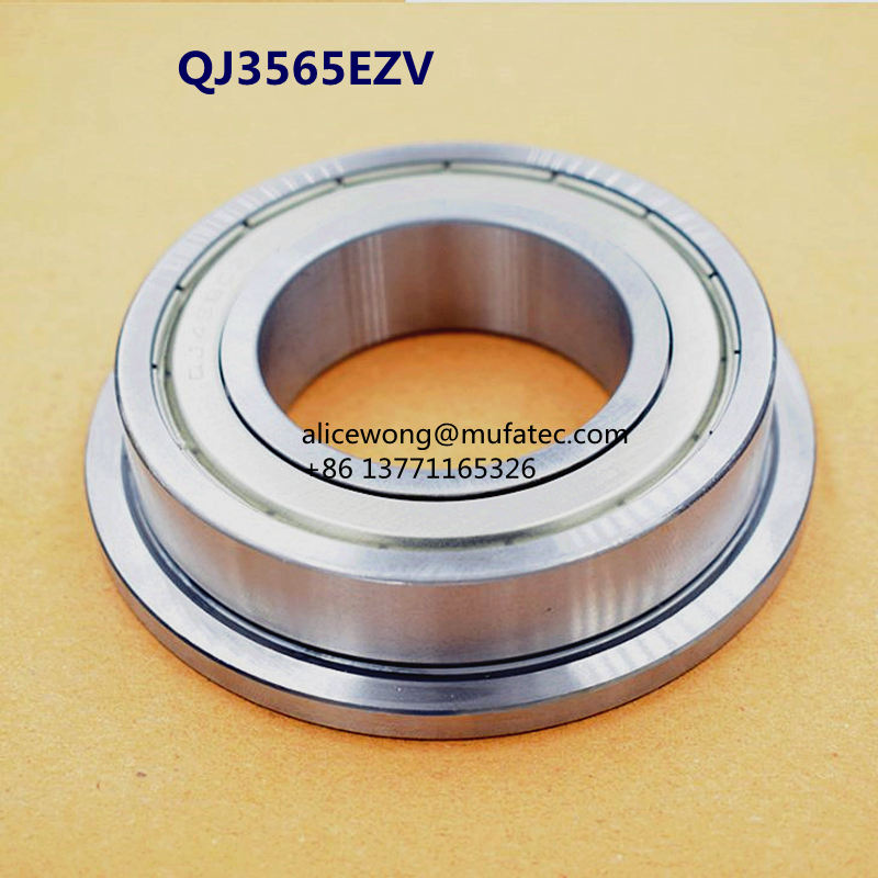 QJ3565EZV Auto Steering Bearing Auto Differential Bearing With Flange 35x65/75x16mm
