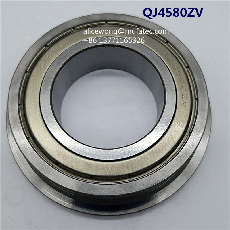 QJ4580ZV Auto Steer Wheel Bearing Flanged Four Point Contact Ball Bearing 45x80/92x20mm