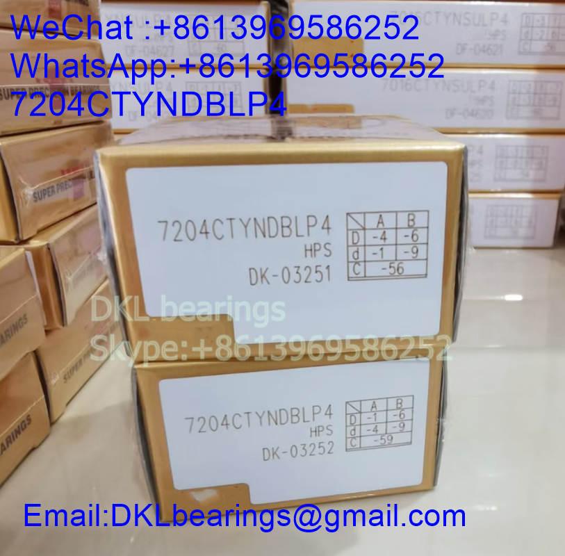 7204CTYNDBLP4 Super precision angular contact ball bearing 20x47x28mm