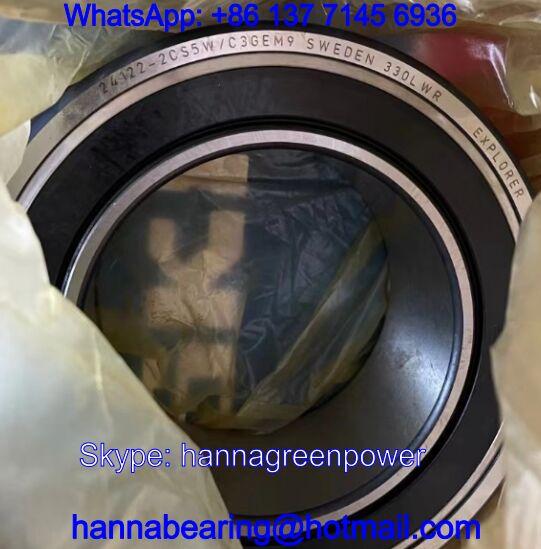 24122-2CS5W/C3GEM9 Spherical Roller Bearings with Seals 110*180*69mm