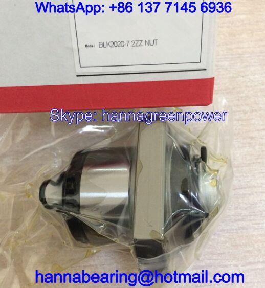 BLK2020-7.2ZZ / BLK2020-7.2 Rolled Ball Screw Nut 20x62x45mm