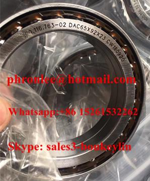 100.116.763-02 Angular Contact Ball Bearing 65x92x23mm