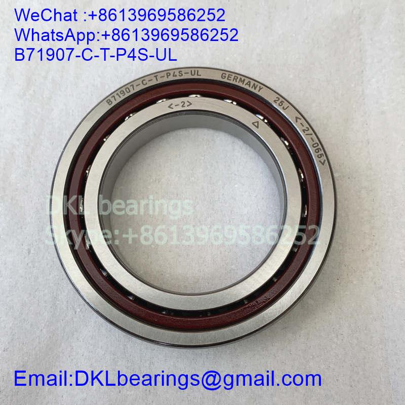 B71907-C-T-P4S-UL Germany Super precision angular contact ball bearing (High quality) size 35*55*10 mm