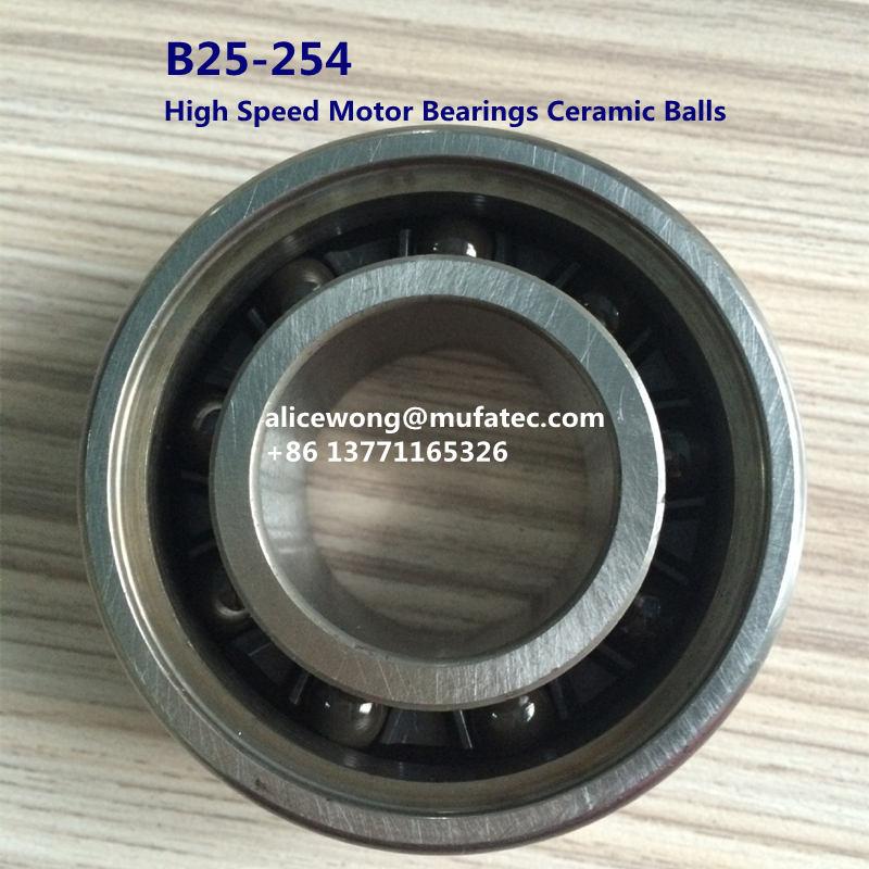 B25-254 High Speed Hybrid Ceramic Ball Bearings for CNC High Speed Applications 25x68x18mm