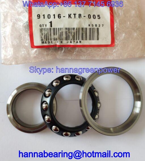 91016-KT8-005 Auto Bearing / Angular Contact Ball Bearings 30*55*17mm