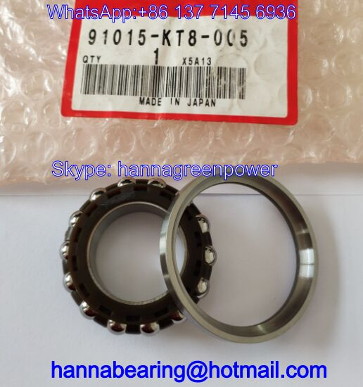 91015-KT8-005 Auto Bearing / Angular Contact Ball Bearings 26*47*15mm