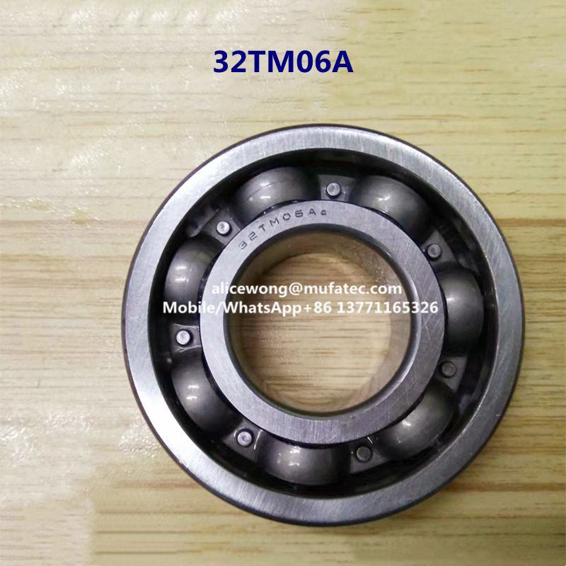 32TM06A open steel cage deep groove ball bearings 32*72*20mm