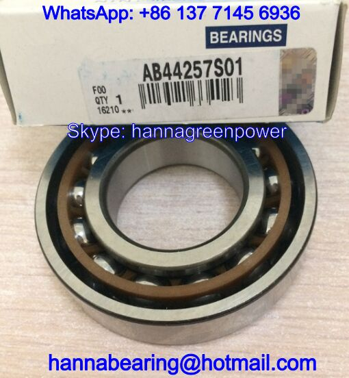 AB44257S01 Auto Gearbox Bearing / Deep Groove Ball Bearing 35*72*17mm