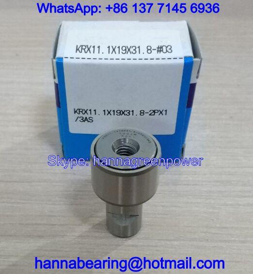KRX11.1X19X31.8-2PX1/3AS Cam Follower Bearing for Printing Machine 11.1*19*31.8mm