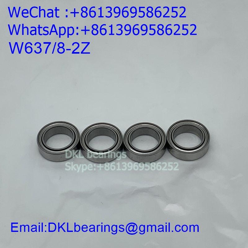 W637/8-2Z Deep Groove Ball Bearing (High speed) size 8*12*3.5 mm