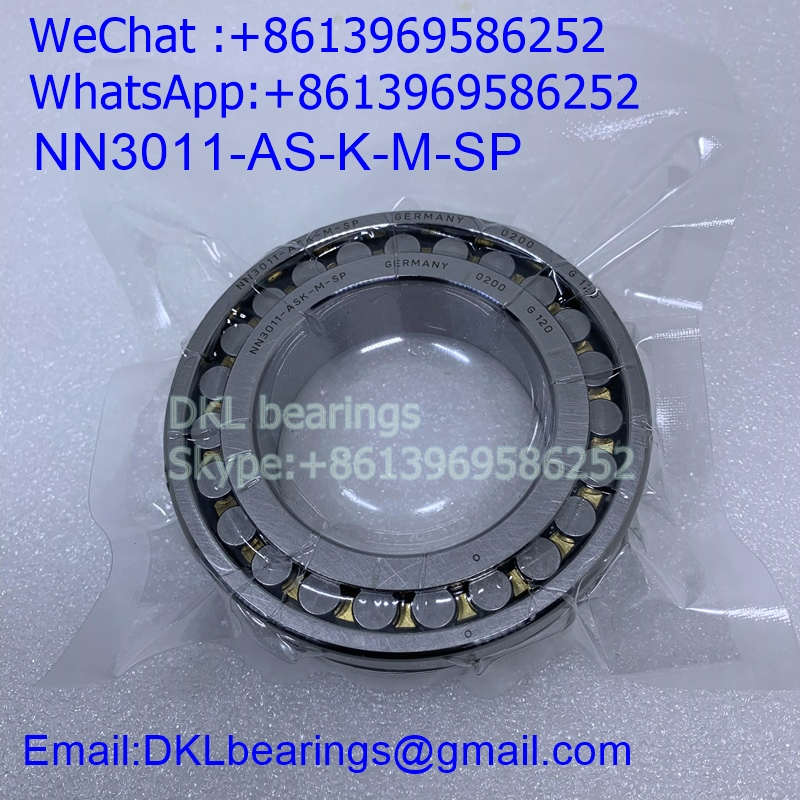 NN3011-AS-K-M-SP Germany Double row cylindrical roller bearing (High quality) 55*90*26 mm