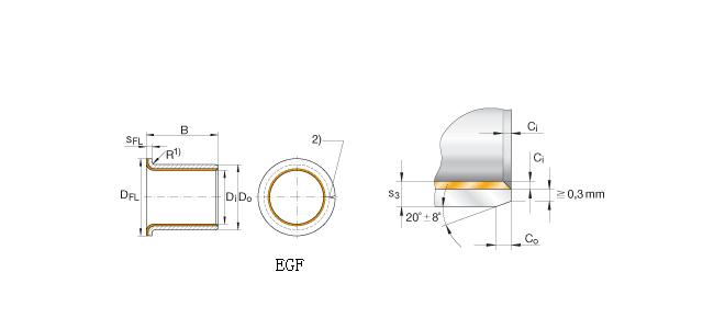 PAF25215-P14 bearing