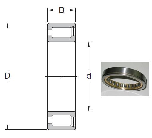 NCF 1868 V Cylindrical Roller Bearings 340*420*38mm