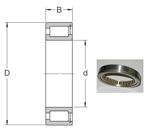 NCF 28/800 V Cylindrical Roller Bearings 800*980*106mm