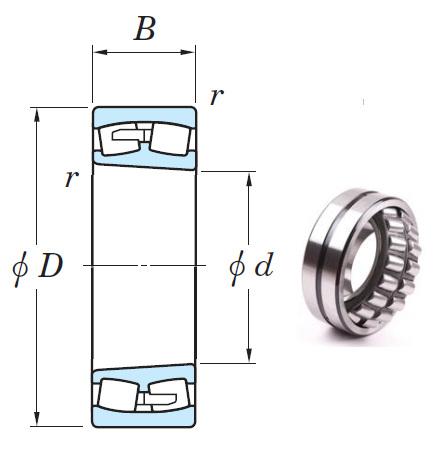 239/500RK Spherical Roller Bearings 500*670*128mm