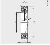 FAG HSS71908-E-T-P4S Bearings