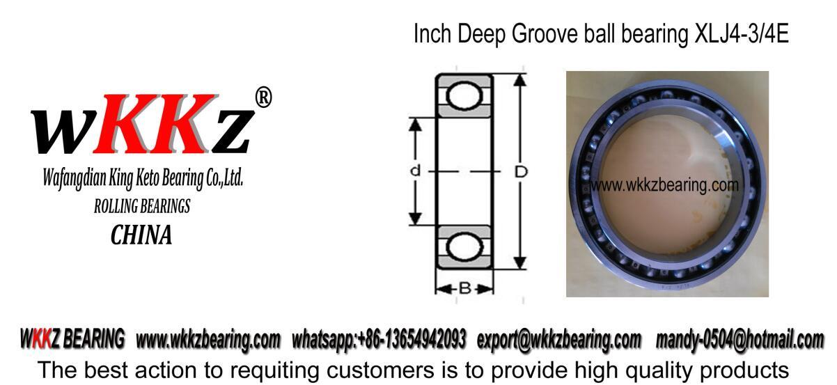 XLJ4 3/4 deep groove ball bearing
