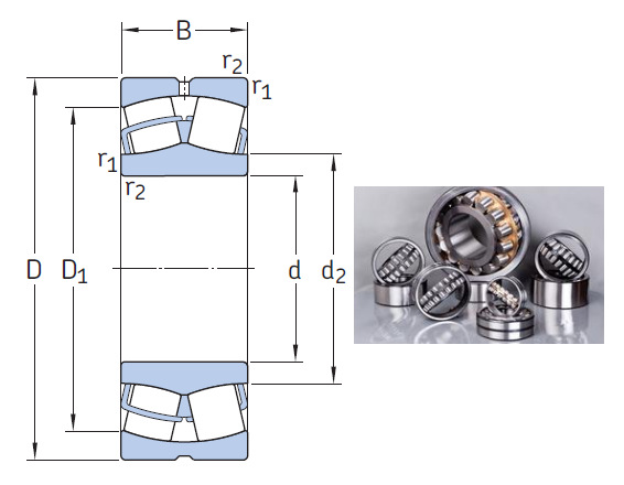 23136 CC/W33 the most novel spherical roller bearing 180*300*96mm