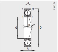 B7219-C-T-P4S bearing 95X170X32mm