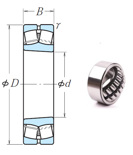 23222CKE4 Spherical Roller Bearings 110*200*69.8mm