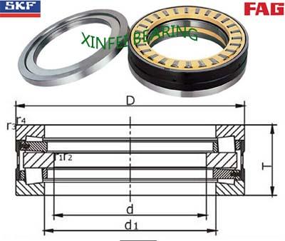 528294 Tapered roller thrust bearings 180×280×90mm