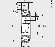 32311-B bearing 55X120X43mm