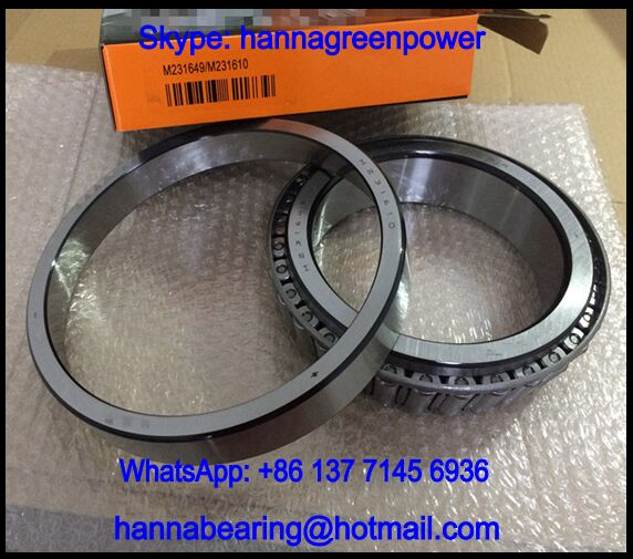 M231649/10 Single Row Tapered Roller Bearing 152.4x222.25x46.83mm