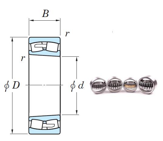 22238RHAK Spherical Roller Bearings 190*340*92mm