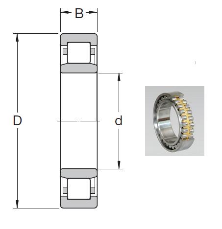 NU 230 ECML Cylindrical Roller Bearings 150*270*45mm