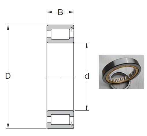 NCF 1876 V Cylindrical Roller Bearings 380*480*46mm