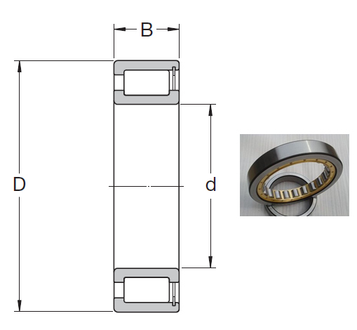 NCF 29/800 V Cylindrical Roller Bearings 800*1060*150mm