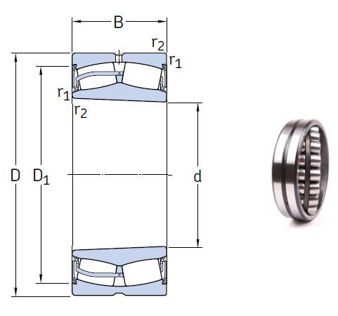 23148-2CS5K/VT143 Spherical Roller Bearings 240*400*128mm
