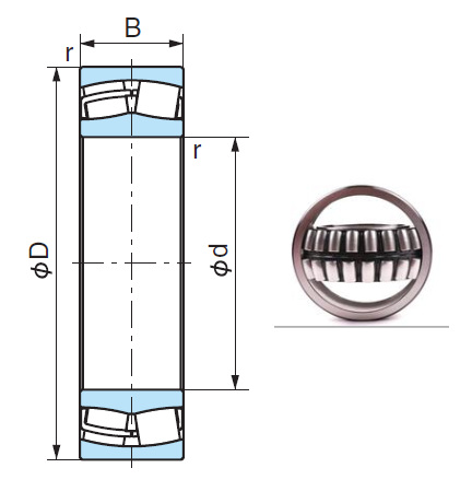 24160E Spherical Roller Bearings 300*500*200mm