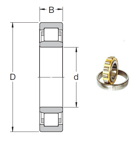 NU 1022 ML Cylindrical Roller Bearings 110*170*28mm