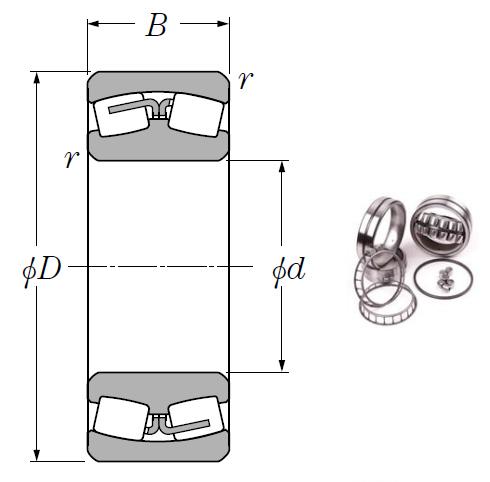 23068B Spherical Roller Bearings 340*520*133mm