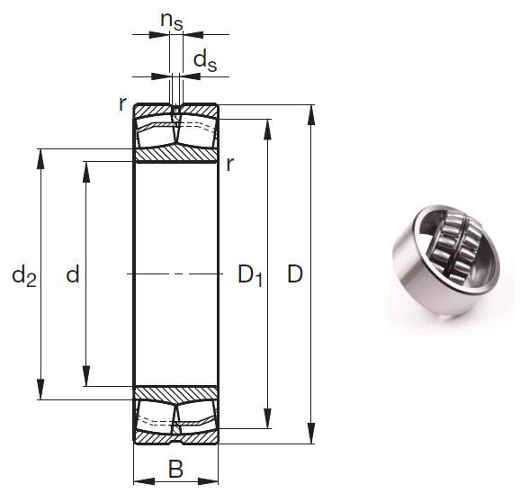 23024-E1-TVPB Spherical Roller Bearings 120*180*46mm