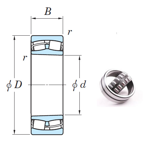 22215RHRK Spherical Roller Bearings 75*130*31mm