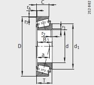 K72200-72487 bearing 50.8X123.825X32.791mm