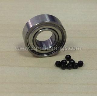 Micro hybrid ceramic ball bearing 6006