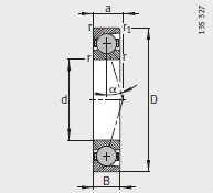 HCB71914-E-T-P4S bearing 70X100X16mm