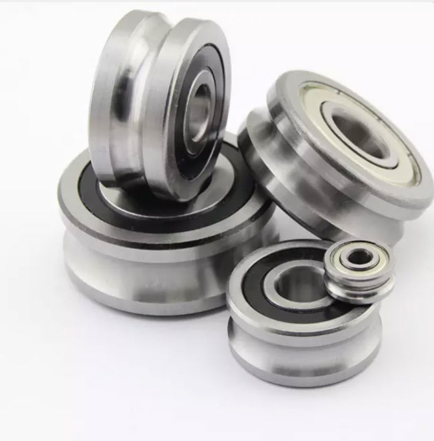 U Groove sealed LFR50/5-4NPP bearings 5x16x7 mm