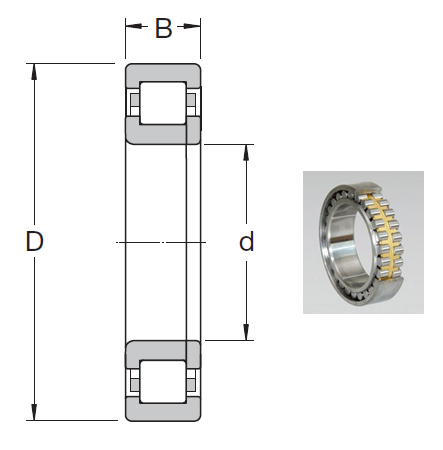 NUP 318 ECJ Cylindrical Roller Bearings 90*190*43mm