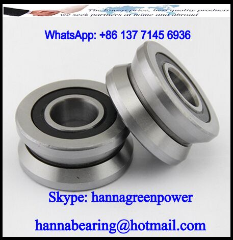 LV20/8-12-2RS V-Groove Guide Roller Bearing 8x30x16mm