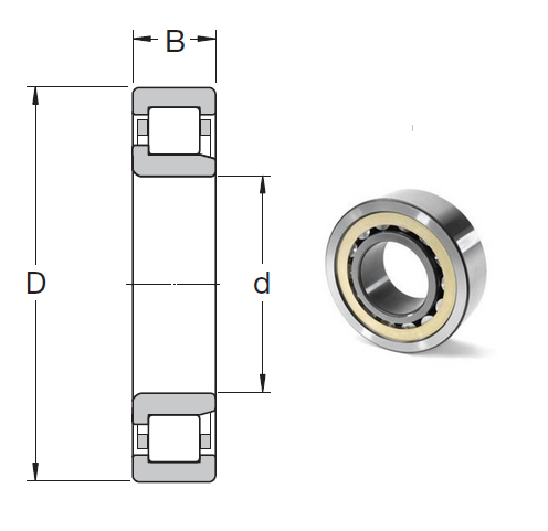NJ 208 ECJ Cylindrical Roller Bearings 40*80*18mm
