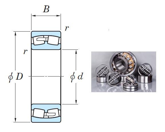 24156RR Spherical Roller Bearings 280*460*180mm